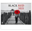 Kalendář nástěnný 2021 Exclusive Edition - Black Red