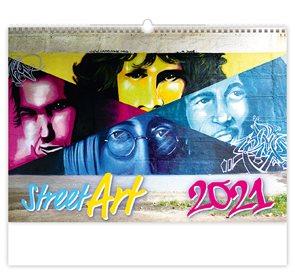 Kalendář nástěnný 2021 - Street Art