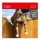 Kalendář nástěnný 2021 Label your days - Cats