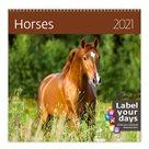 Kalendář nástěnný 2021 Label your days - Horses