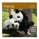 Kalendář nástěnný 2021 Label your days - Friends