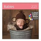Kalendář nástěnný 2021 Label your days - Babies