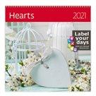 Kalendář nástěnný 2021 Label your days - Hearts