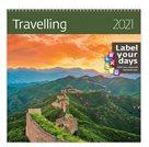 Kalendář nástěnný 2021 Label your days - Travelling
