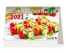 Kalendář stolní 2021 - Zdravě jíst, zdravě žít