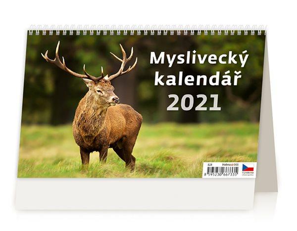 Kalendář stolní 2021 - Myslivecký kalendář - 22,6 x 13,9 cm