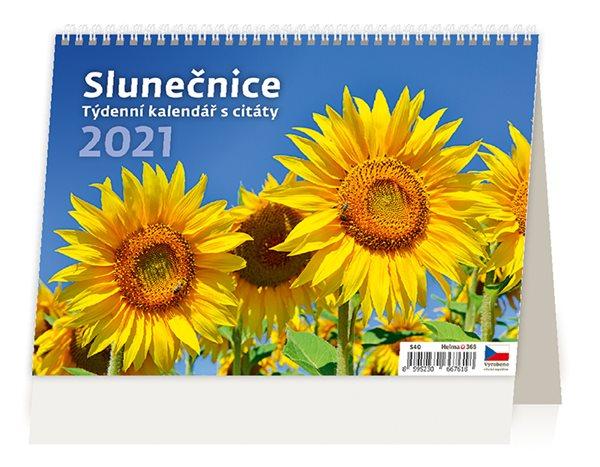 Kalendář stolní 2021 - Slunečnice - 21,1 x 14,8 cm