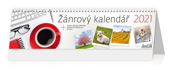 Kalendář stolní 2021 - Žánrový kalendář - 42,1 x 11,5 cm