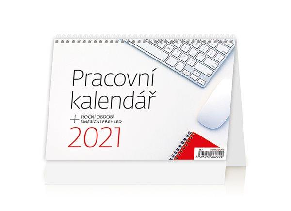 Kalendář stolní 2021 - Pracovní kalendář - 21,1 x 14,8 cm