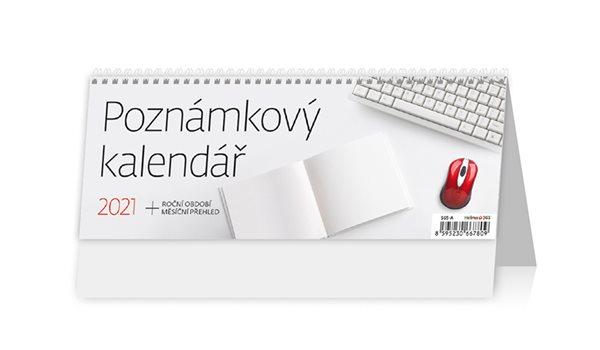 Kalendář stolní 2021 - Poznámkový kalendář - 24,6 x 9,6 cm