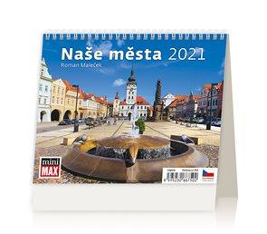 Kalendář stolní 2021 - MiniMax Naše města