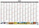 Kalendář nástěnný 2022 - Plánovací roční mapa A1 obrázková