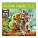 Kalendář nástěnný 2022 Label your days - Animal Friends