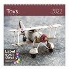 Kalendář nástěnný 2022 Label your days - Toys