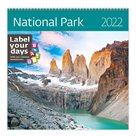 Kalendář nástěnný 2022 Label your days - National Parks