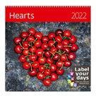 Kalendář nástěnný 2022 Label your days - Hearts