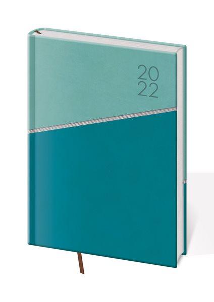 Diář 2022 týdenní A5 Line - zelený - 14,3 x 20,5 cm