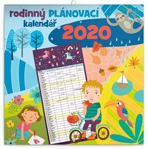 Rodinný plánovací kalendář 2020 nástěnný