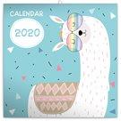 Nástěnný poznámkový kalendář 2020, 30 × 30 cm - Šťastné lamy