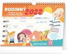Týdenní rodinný plánovací kalendář 2022 s háčkem, 30 × 21 cm