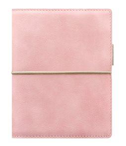 Filofax Kroužkový diář 2021 Domino Soft kapesní - pastelově růžový