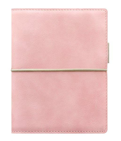Filofax Kroužkový diář 2020 Domino Soft kapesní - pastelově růžový