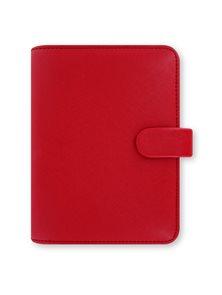 Filofax Kroužkový diář 2020 Saffiano kapesní - červený