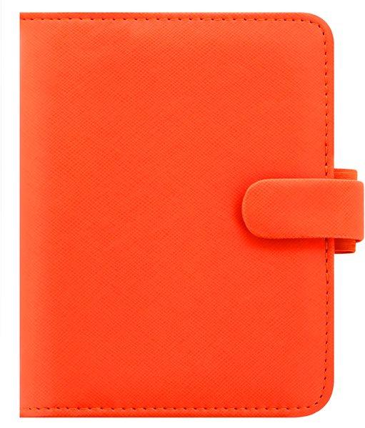 Filofax Kroužkový diář 2021 Saffiano kapesní - oranžový - 145 x 115 x 34 mm