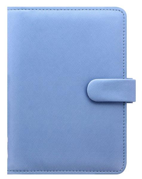 Filofax Kroužkový diář 2021 Saffiano osobní - sv.modrý - 188 x 135 x 35 mm