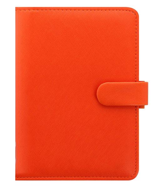 Filofax Kroužkový diář 2021 Saffiano osobní - oranžový - 188 x 135 x 35 mm
