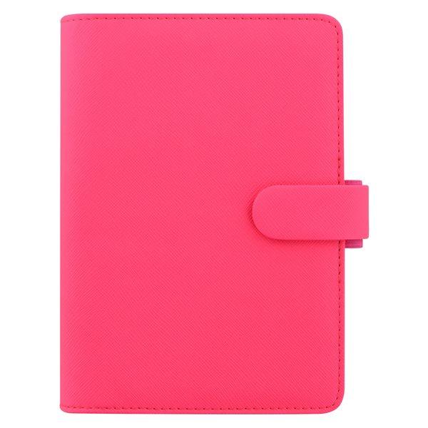 Filofax Kroužkový diář 2020 Saffiano Fluoro osobní - růžový