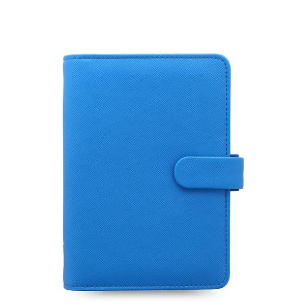 Filofax Kroužkový diář 2021 Saffiano Fluoro osobní - modrý