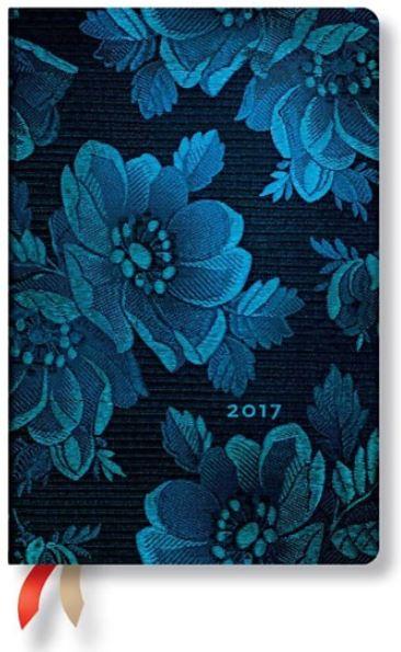 Paperblanks Diář 2017 Blue Muse Mini týdenní horizontální - 9,5 x 14 cm