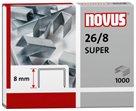 NOVUS Drátky do sešívačky 26/8 SUPER - 1000 ks