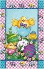 Stil Velikonoční sáček 24,5 × 38 cm - Kuřátka a vajíčka