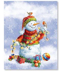 Stil Mikulášský sáček 23,4 × 30,5 cm - Sněhulák s dárky