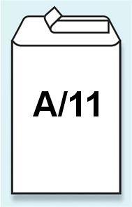 """Bublinková obálka samolepicí s páskou """"A"""" 100x165 mm"""