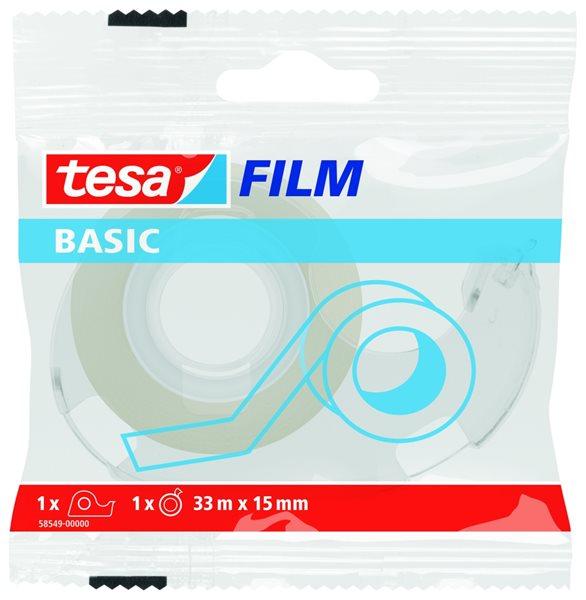 Tesa Lepicí páska Basic 33 m × 15 mm, s odvíječem