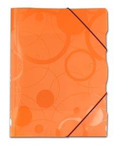 PP Neo Colori Desky s gumou PP 3 klopy A4 - oranžová