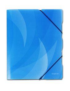 Karton Shadow Desky s gumou PP 3 klopy A4 - modrá