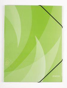 PP Desky s gumou SHADOW lamino A4 - zelené