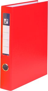 PP 4 kroužkový pořadač plastový A4 PP 4cm - červený