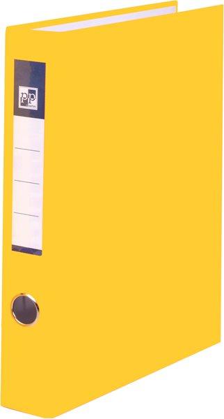 PP 4 kroužkový pořadač plastový A4 PP 4cm - žlutý