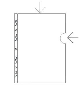 PP Zakládací obal L/U A5 s euroděrováním PVC 150 mic
