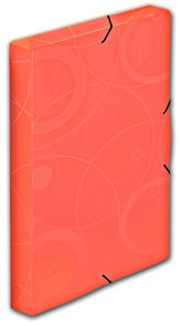 PP Krabice s gumou A4 3cm Neo Colori - oranžová