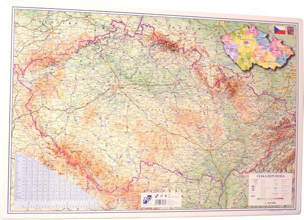 PP Psací podložka na stůl 60x40 - mapa ČR