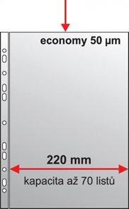 "PP Zakládací obal A4 ""U Maxi"" matný 50 mic - 50 ks"