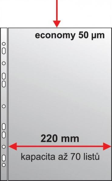 "Karton PP Zakládací obal A4 ""U Maxi"" matný 50 mic - 50 ks"