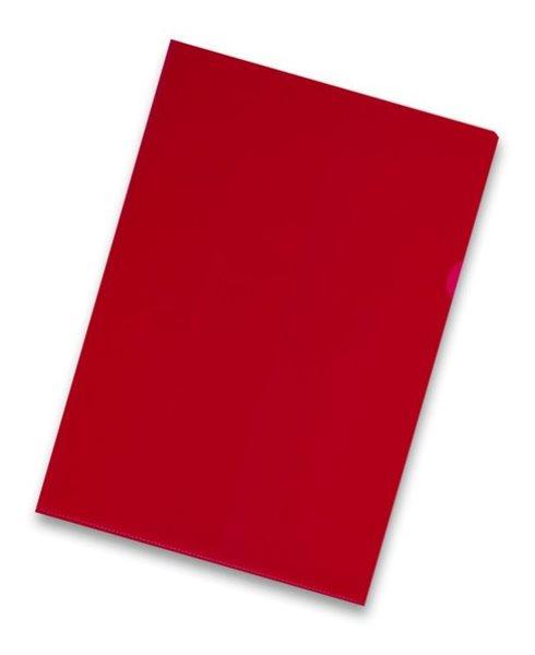 """Zakládací obal """"L"""" A4 PVC 150 mic 10 ks - červený"""