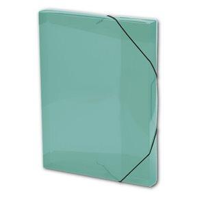PP Krabice na spisy A4 3 klopy s gumou - zelená